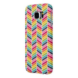 Caja del teléfono de Chevron del arco iris Funda Samsung Galaxy S6