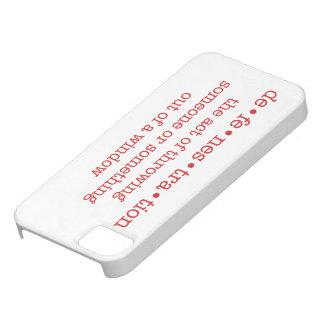 Caja del teléfono de Defenestration (roja) iPhone 5 Cárcasas