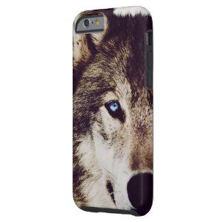 Caja del teléfono de IPhone 6 del ojo del lobo Funda Resistente iPhone 6