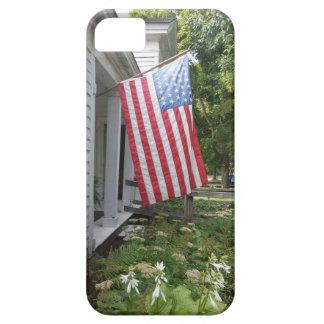 Caja del teléfono de la bandera americana del funda para iPhone SE/5/5s