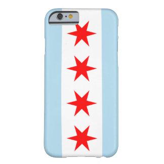 caja del teléfono de la bandera de Chicago del Funda Para iPhone 6 Barely There
