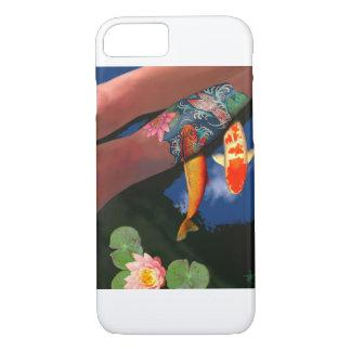Caja del teléfono de la charca del lirio del funda iPhone 7