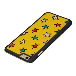 caja del teléfono de la estrella roja, blanca y funda para iPhone 6 de carved® de arce