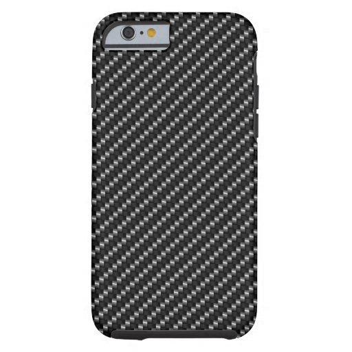Caja del teléfono de la fibra de carbono funda de iPhone 6 tough