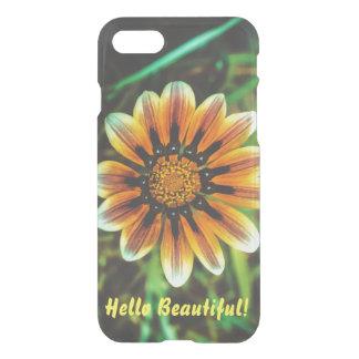 Caja del teléfono de la flor amarilla y blanca -- funda para iPhone 7