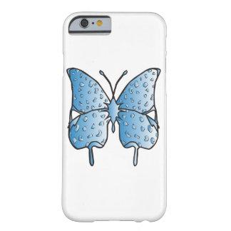 Caja del teléfono de la mariposa del azul de cielo funda barely there iPhone 6