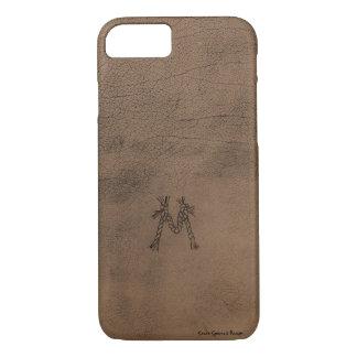 Caja del teléfono de la mirada del cuero de silla funda para iPhone 8/7