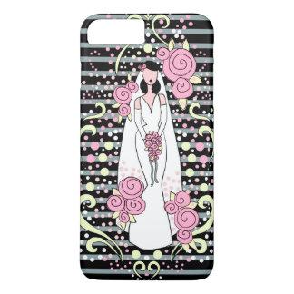 caja del teléfono de la novia del boda funda iPhone 7 plus