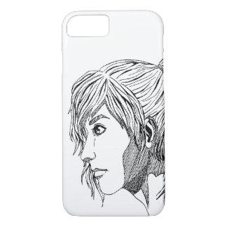 Caja del teléfono de las ilustraciones de la tinta funda iPhone 7