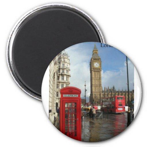 Caja del teléfono de Londres Big Ben (por St.K) Imán De Frigorífico