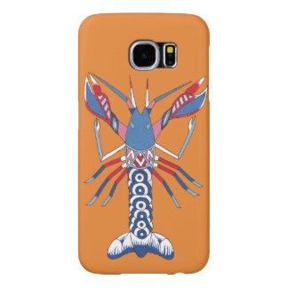 Caja del teléfono de los cangrejos - arte aborigen funda samsung galaxy s6