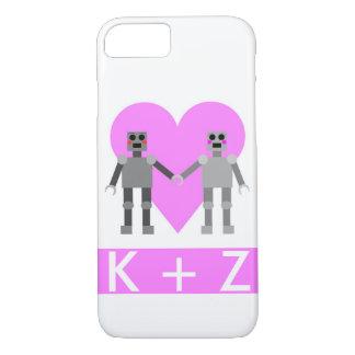 Caja del teléfono del amor del robot con el funda iPhone 7