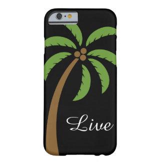 Caja del teléfono del árbol de coco funda barely there iPhone 6
