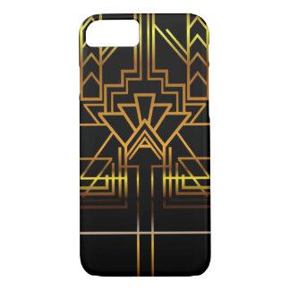 Caja del teléfono del art déco del oro funda iPhone 7