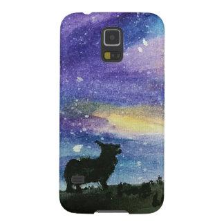 Caja del teléfono del cielo nocturno del Corgi Carcasa Galaxy S5