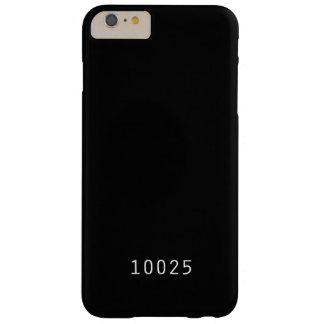 Caja del teléfono del código postal - Nueva York Funda Barely There iPhone 6 Plus