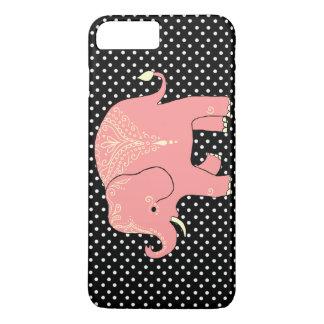 caja del teléfono del elefante del melocotón funda iPhone 7 plus