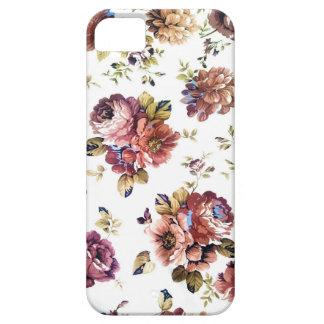 Caja del teléfono del estampado de flores del iPhone 5 fundas