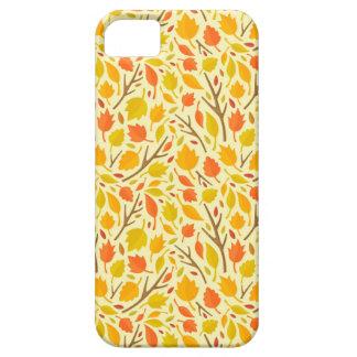 Caja del teléfono del follaje del otoño iPhone 5 cárcasa