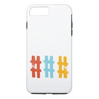caja del teléfono del hashtag funda iPhone 7 plus