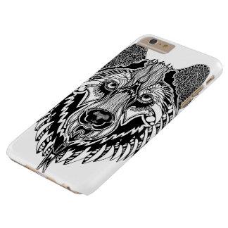 Caja del teléfono del iPhone 6/6s del lobo Funda Barely There iPhone 6 Plus