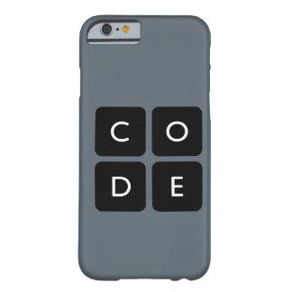 caja del teléfono del logotipo de Code.org Funda De iPhone 6 Barely There