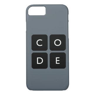 caja del teléfono del logotipo de Code.org Funda iPhone 7