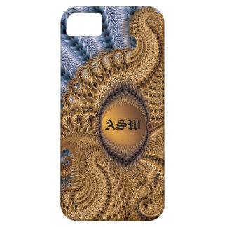 Caja del teléfono del oro con iniciales iPhone 5 Case-Mate coberturas