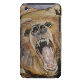 Caja del teléfono del oso el gruñir cubierta para iPod de barely there