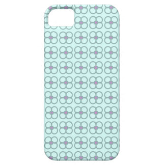 Caja del teléfono del trullo con las flores grises funda para iPhone SE/5/5s