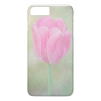 Caja del teléfono del tulipán del rosa en colores funda iPhone 7 plus