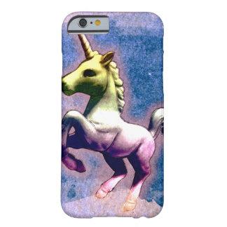 Caja del teléfono del unicornio (azul quemado) funda barely there iPhone 6