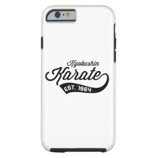 Caja del teléfono del vintage del karate de funda resistente iPhone 6