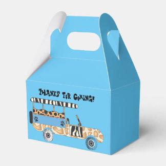 Caja del tema del safari (azul) cajas para regalos de fiestas