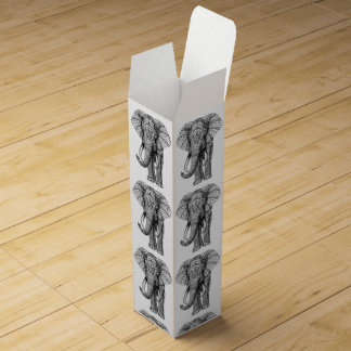 Caja del vino del diseño del elefante