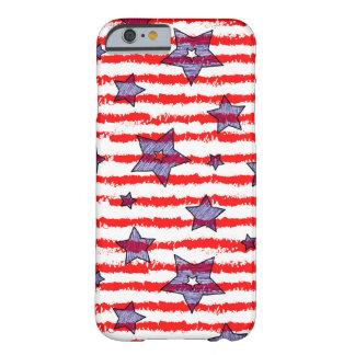 Caja diseñada de la bandera americana funda barely there iPhone 6