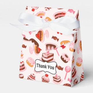 Caja dulce del favor de la tienda de los postres