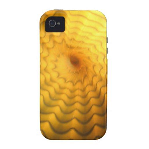 caja dura abstracta amarilla del iphone iPhone 4/4S carcasas