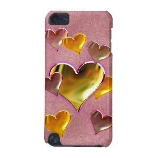 Caja dura de iPod Shell de los corazones metálicos