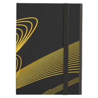 Caja Elegante-BK del aire del iPad del oro sin
