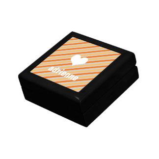Caja elegante de la baratija del corazón moderno d joyero cuadrado pequeño