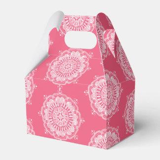 Caja elegante del favor del arte de la mandala