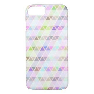 Caja en colores pastel de los triángulos funda iPhone 7