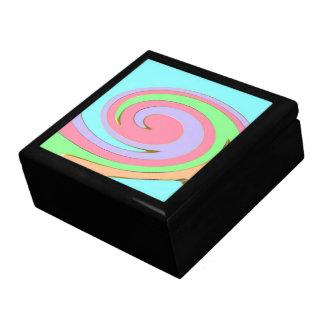 Caja en colores pastel del arco iris