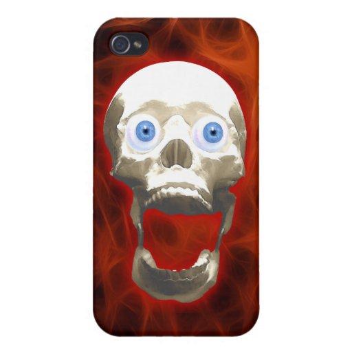 Caja extraña de griterío gótica de la mota del crá iPhone 4 fundas