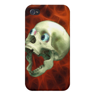 Caja extraña de griterío gótica de la mota del crá iPhone 4 cobertura