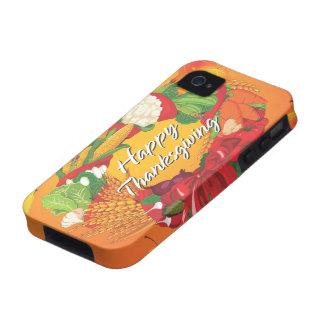 Caja feliz de la casamata de la acción de gracias  iPhone 4/4S funda