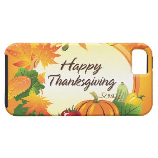 Caja feliz de la casamata de la acción de gracias  iPhone 5 Case-Mate protector