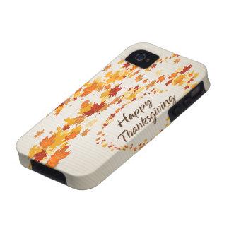 Caja feliz de la casamata de la acción de gracias  iPhone 4/4S carcasas