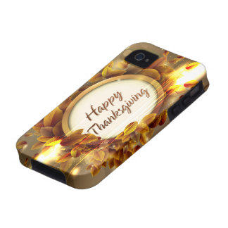 Caja feliz de la casamata de la acción de gracias  Case-Mate iPhone 4 carcasa